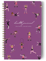 This is a purple journal by Katie Zimpel called Millennial Fitness with standard printing on premium cover stock in notebook.