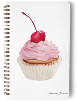 This is a pink journal by Denise Junek called Pink Cupcake with standard printing on premium cover stock in notebook.