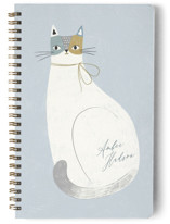 This is a blue journal by Monika Drachal called Feline Notes with standard printing on premium cover stock in notebook.