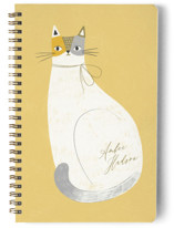 This is a yellow journal by Monika Drachal called Feline Notes with standard printing on premium cover stock in notebook.