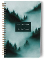 This is a green journal by Elly called Mountain with standard printing on premium cover stock in notebook.