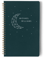 This is a green journal by LemonBirch Design called Moon ans stars with standard printing on premium cover stock in notebook.