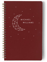 This is a red journal by LemonBirch Design called Moon ans stars with standard printing on premium cover stock in notebook.