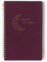 This is a purple journal by LemonBirch Design called Moon ans stars with standard printing on premium cover stock in notebook.