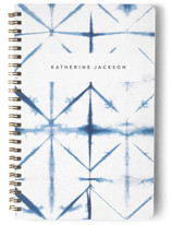 This is a blue journal by Creo Study called Dyed with standard printing on premium cover stock in notebook.