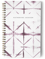 This is a purple journal by Creo Study called Dyed with standard printing on premium cover stock in notebook.