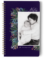 This is a purple journal by Ashlee Townsend called Garden Edge with standard printing on premium cover stock in notebook.