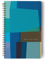 This is a blue journal by Sumak Studio called fabulous colors with standard printing on premium cover stock in notebook.