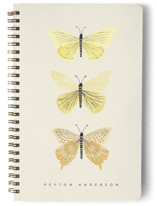 This is a yellow journal by Karidy Walker called Butterfly Collection with standard printing on premium cover stock in notebook.