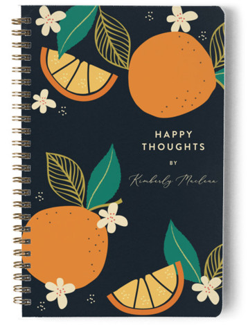 Abstract Bold Orange Day Planner, Notebook, Or Address Book