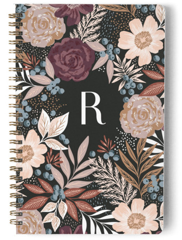 Floral Spread Day Planner, Notebook, Or Address Book