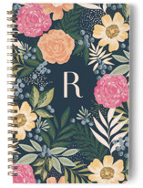 This is a orange journal by Alethea and Ruth called Floral Spread with standard printing on premium cover stock in notebook.