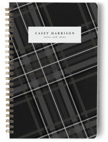 This is a black journal by Lea Delaveris called Plaid Framed with standard printing on premium cover stock in notebook.
