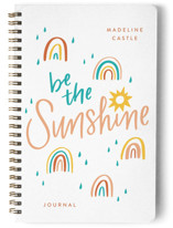 This is a orange journal by Erin German Design called Be the Sunshine with standard printing on premium cover stock in notebook.