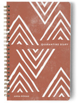 This is a white journal by Amber Barkley called Quarantine Diary with standard printing on premium cover stock in notebook.