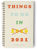 This is a orange journal by Yours Madly called Things to do...next year with standard printing on premium cover stock in notebook.