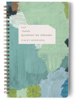 This is a green journal by Meg Gleason called Dream Journal with standard printing on premium cover stock in notebook.