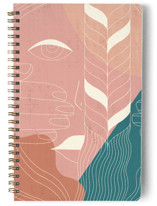 This is a green journal by Angel Walker called Braid with standard printing on premium cover stock in notebook.