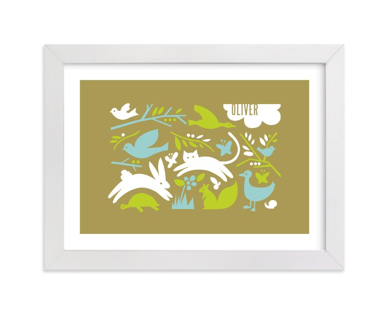 """Prairie Tale"" - Nursery Custom Art Print by Moglea in beautiful frame options and a variety of sizes."