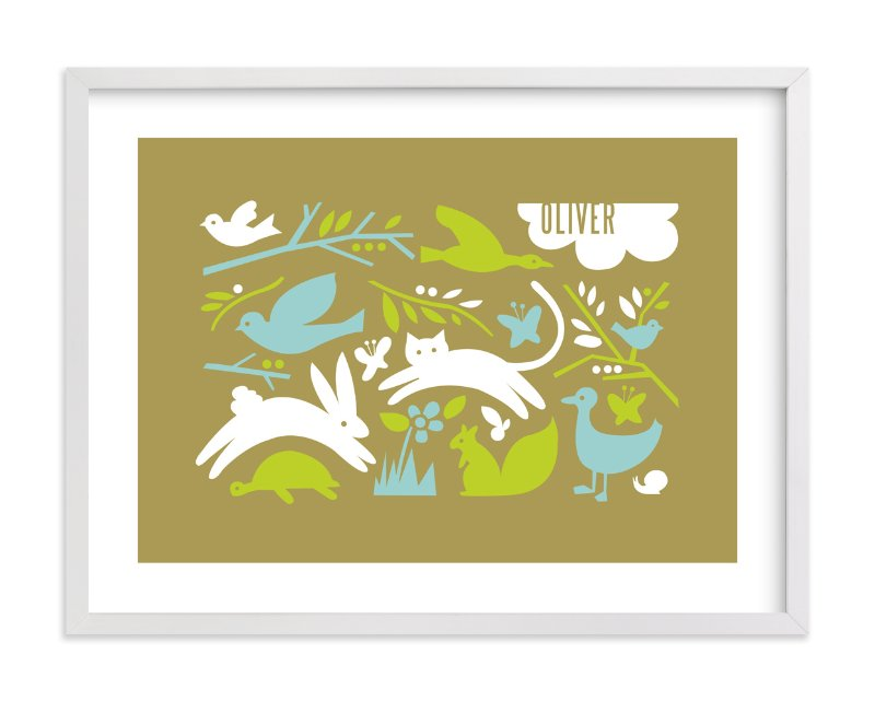 """""""Prairie Tale"""" - Nursery Custom Art Print by Moglea in beautiful frame options and a variety of sizes."""