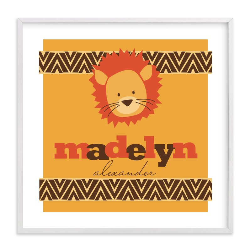 """""""Roar!"""" - Nursery Custom Art Print by Loree Mayer in beautiful frame options and a variety of sizes."""