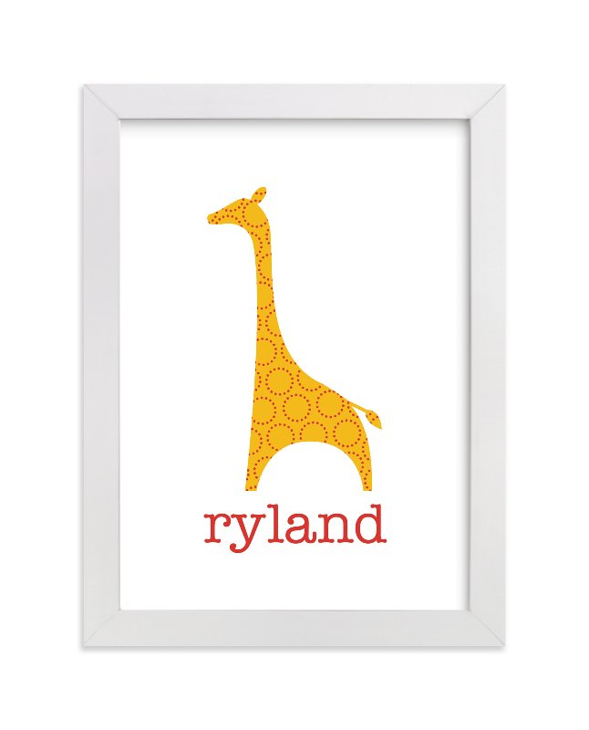 """""""Patterned Giraffe"""" - Nursery Custom Art Print by Ampersand Design Studio in beautiful frame options and a variety of sizes."""