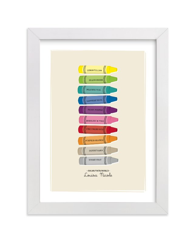 This is a brown nursery wall art by Ann Gardner called Color Your World with standard.