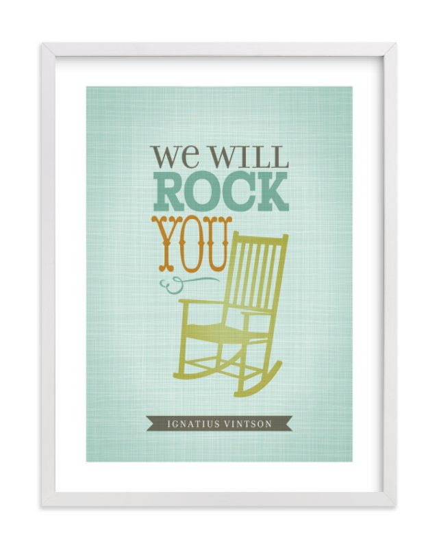 """""""We will Rock You"""" - Nursery Custom Art Print by Tami Bohn in beautiful frame options and a variety of sizes."""