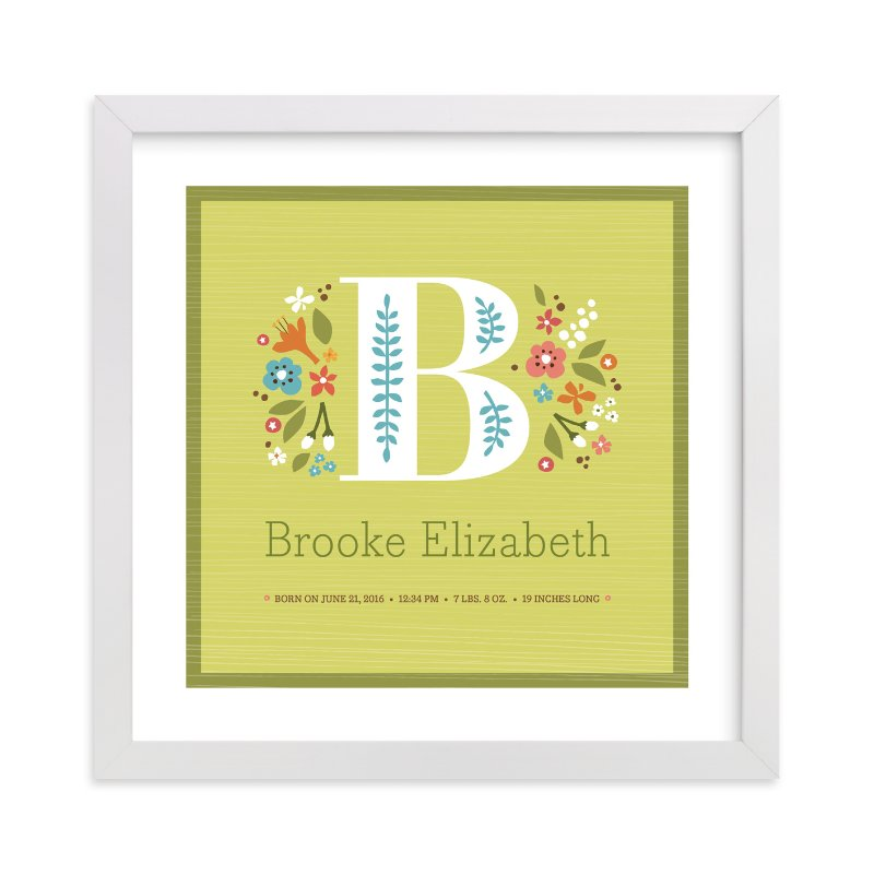 """Storybook Initial"" - Nursery Custom Art Print by Jennifer Wick in beautiful frame options and a variety of sizes."