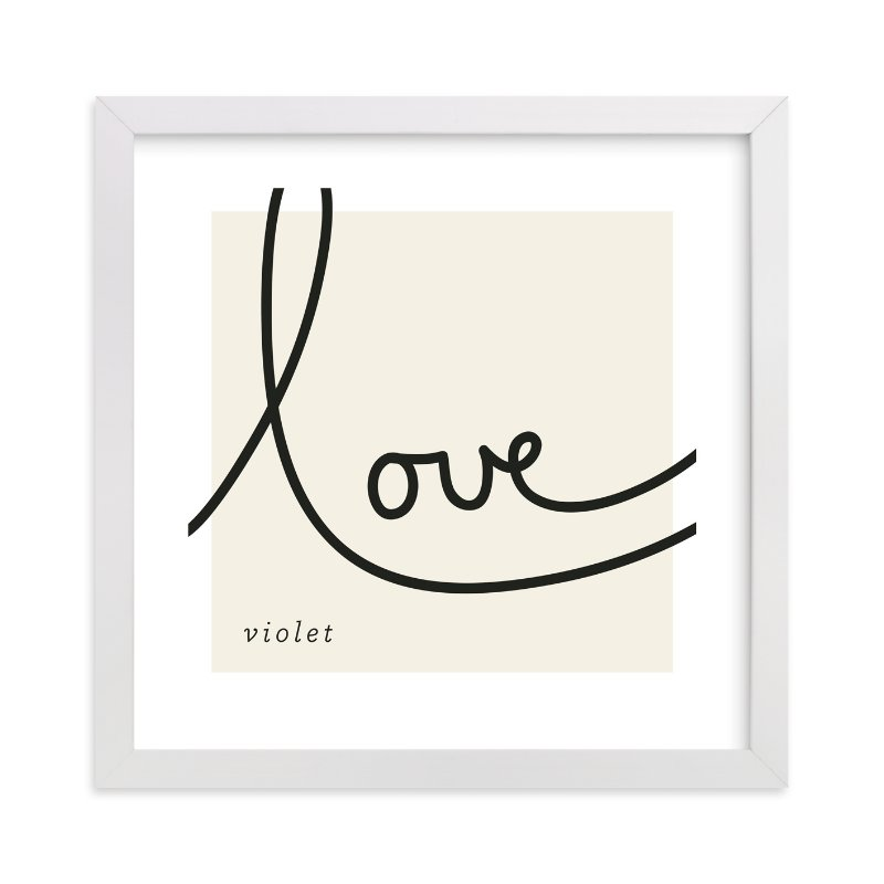 This is a brown nursery wall art by Erin Pescetto called Sweet Sophistication with standard.