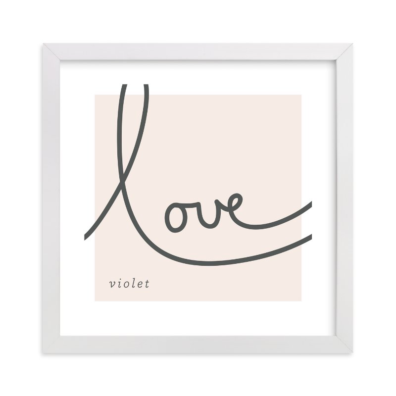 This is a pink nursery wall art by Erin Pescetto called Sweet Sophistication with standard.