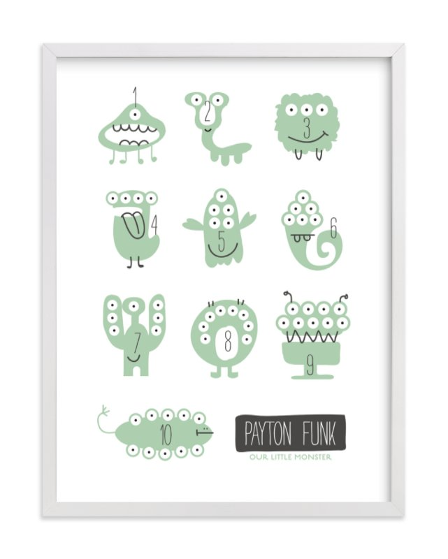 """""""Monster Math"""" - Nursery Custom Art Print by Carrie ONeal in beautiful frame options and a variety of sizes."""