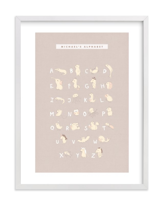 """Mascarpone"" - Nursery Custom Art Print by chocomocacino in beautiful frame options and a variety of sizes."