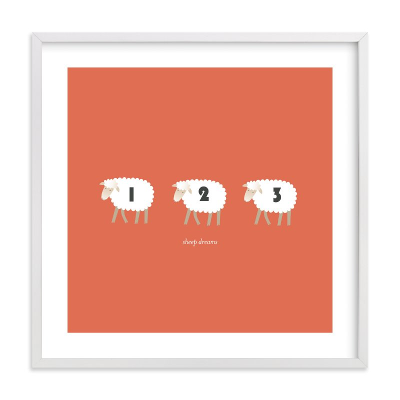 """""""Sheep Dreams"""" - Nursery Custom Art Print by Dara in beautiful frame options and a variety of sizes."""
