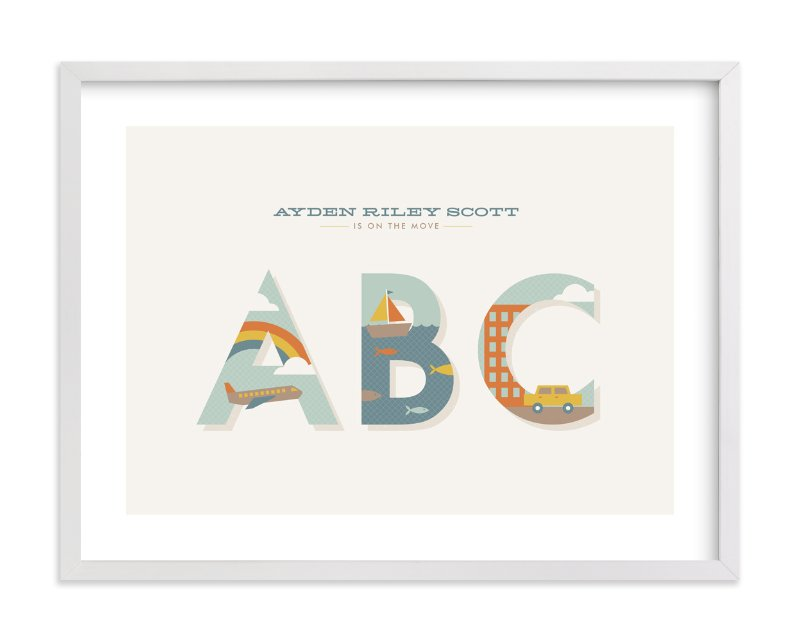 """""""On the Move"""" - Nursery Custom Art Print by Amber Barkley in beautiful frame options and a variety of sizes."""