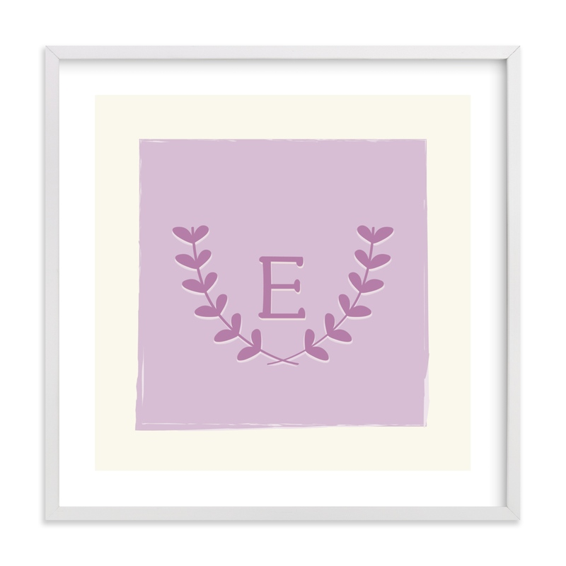 This is a purple nursery wall art by Kim Dietrich Elam called Laurel.