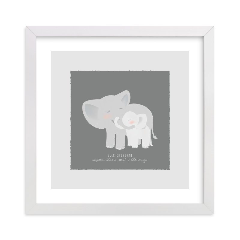 """A Mother's Love - Elephants"" - Nursery Custom Art Print by Lori Wemple in beautiful frame options and a variety of sizes."
