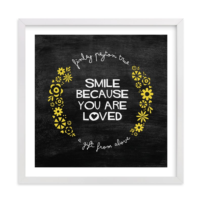 """Smile"" - Nursery Custom Art Print by trbdesign in beautiful frame options and a variety of sizes."