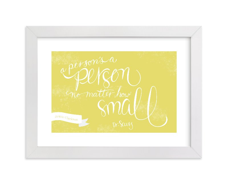 """""""No Matter How Small"""" - Nursery Custom Art Print by Sharon Rowan in beautiful frame options and a variety of sizes."""