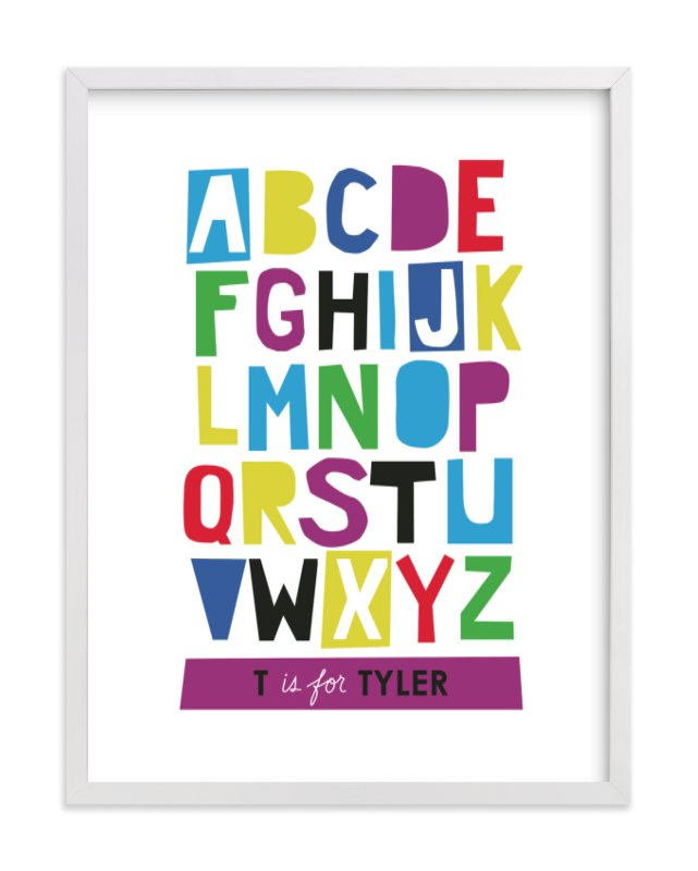 """Paper Cut ABCs"" - Nursery Custom Art Print by Ampersand Design Studio in beautiful frame options and a variety of sizes."