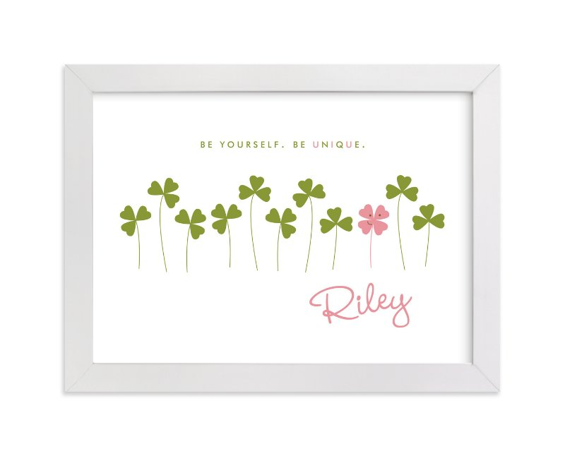 """Little Clover"" - Nursery Custom Art Print by Oscar & Emma in beautiful frame options and a variety of sizes."