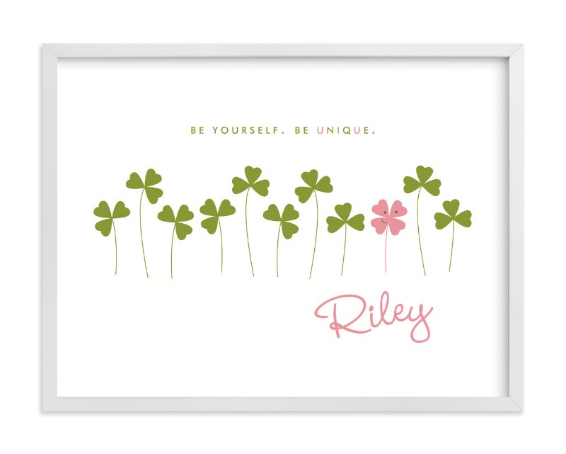 """""""Little Clover"""" - Nursery Custom Art Print by Oscar & Emma in beautiful frame options and a variety of sizes."""