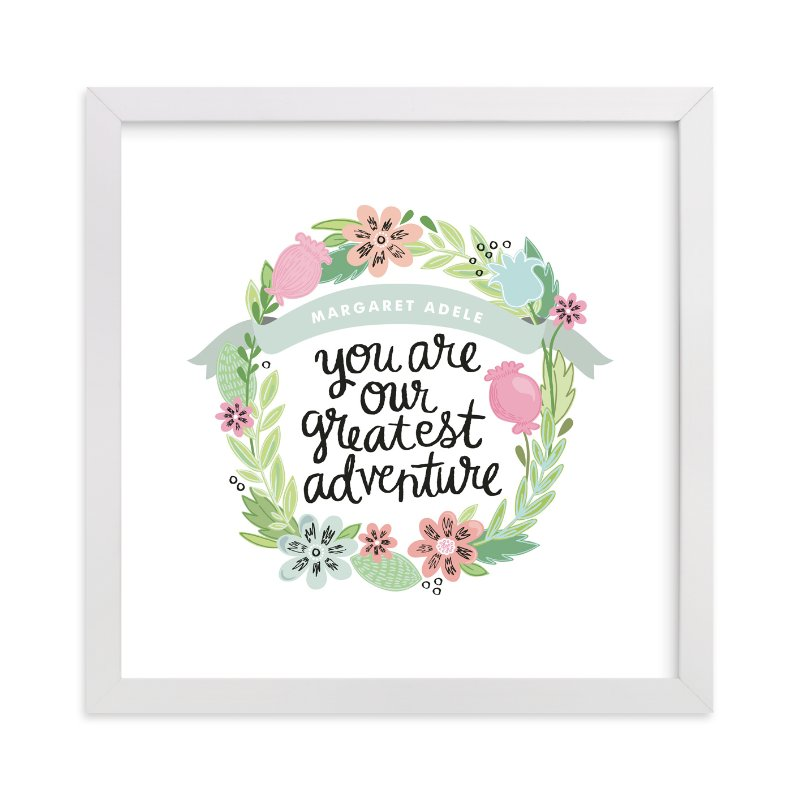 """""""Greatest Adventure"""" - Nursery Custom Art Print by Alethea and Ruth in beautiful frame options and a variety of sizes."""