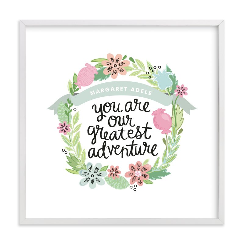 """Greatest Adventure"" - Nursery Custom Art Print by Alethea and Ruth in beautiful frame options and a variety of sizes."