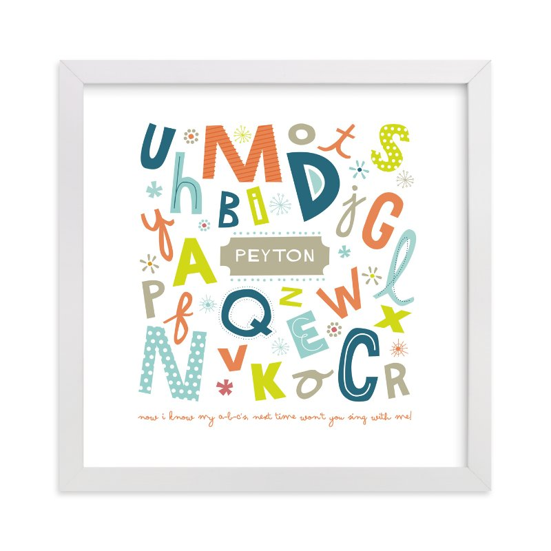 """""""Alphabet Soup for Her"""" - Nursery Custom Art Print by trbdesign in beautiful frame options and a variety of sizes."""