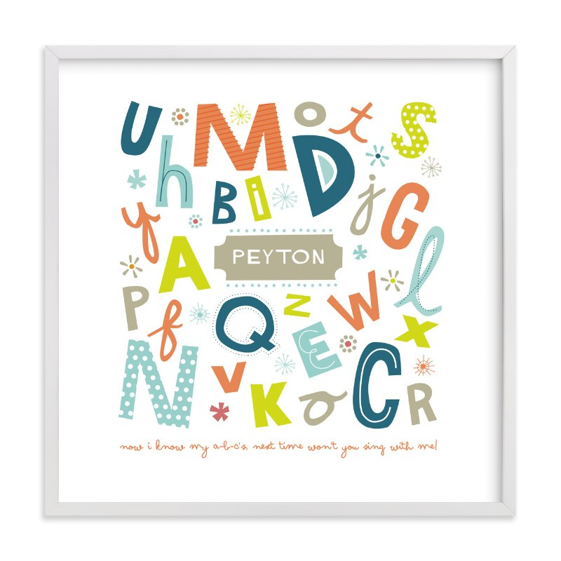 """Alphabet Soup for Her"" - Nursery Custom Art Print by trbdesign in beautiful frame options and a variety of sizes."