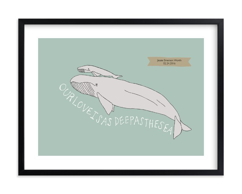 """Deep as the Sea"" - Nursery Custom Art Print by Annada Hypes in beautiful frame options and a variety of sizes."