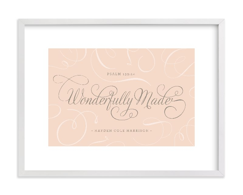 """""""Wonderfully Made"""" - Nursery Custom Art Print by Design Lotus in beautiful frame options and a variety of sizes."""