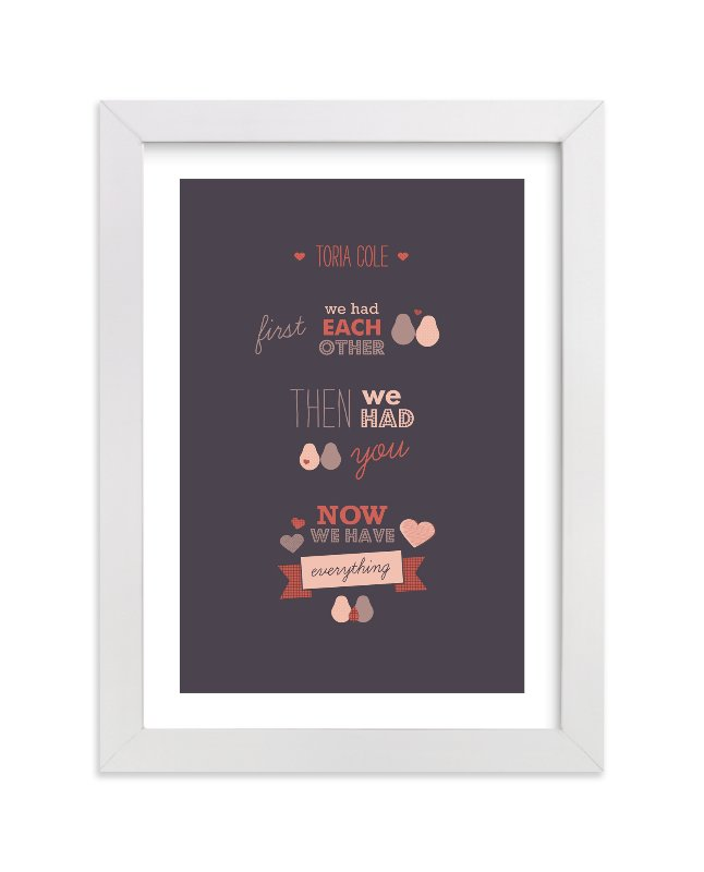 """We Three"" - Nursery Custom Art Print by Picklelily in beautiful frame options and a variety of sizes."