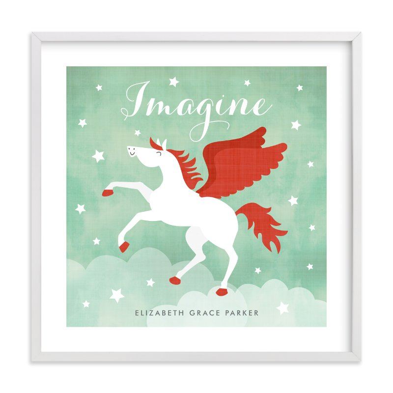 """""""Pegasus"""" - Nursery Custom Art Print by Susan Asbill in beautiful frame options and a variety of sizes."""